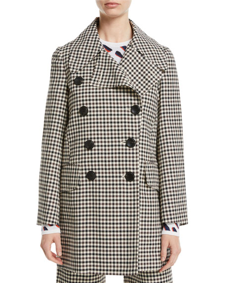 Checked Twill Peacoat - Brown Multi Size 40 It