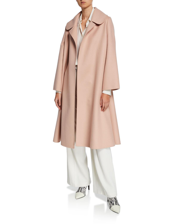 8059ab9593d1 Oscar de la Renta Oversized Open Front Swing Coat