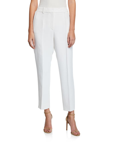 Mid-Rise Tapered Ankle Pants