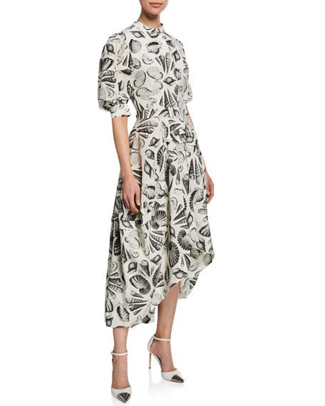 Alexander McQueen Cabinet Of Shells Short-Sleeve Dress