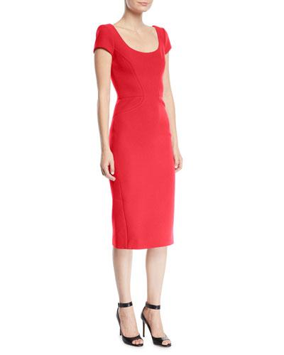Scoop Neck Short Sleeve Dress