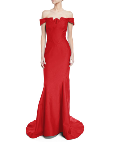 Zac Posen OFF-THE-SHOULDER MERMAID GOWN