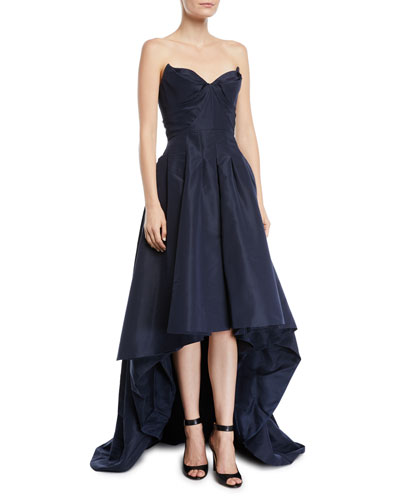 Strapless-Sweetheart High Low Gown