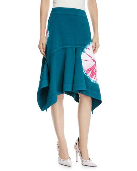 Calvin Klein Denims HIGH-WAIST DENIM SAND DOLLAR FIT/FLARE SKIRT