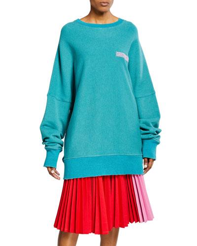 Oversized Crewneck Pullover Sweater
