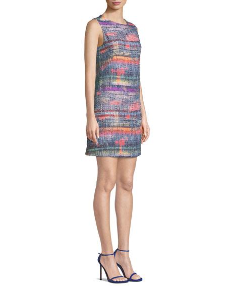 Sleeveless Hyper-Tweed Shift Dress