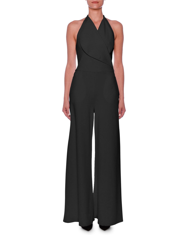 cc8f486a953a Stella McCartney Sleeveless Portrait-Collar Wide-Leg Jumpsuit ...