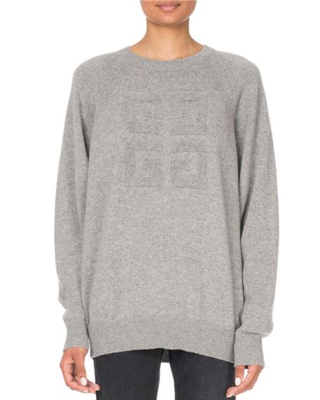Givenchy Cashmere Logo-Jacquard Crewneck Sweater