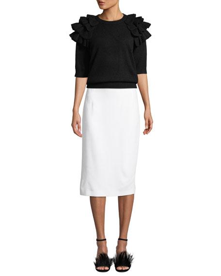 Crepe Sable Pencil Skirt
