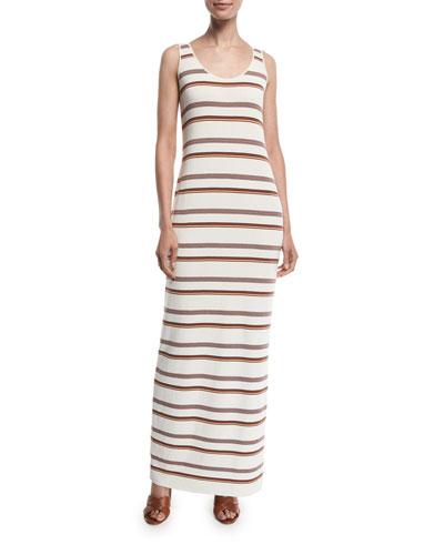Palm Beach Long Knit Stripe Dress