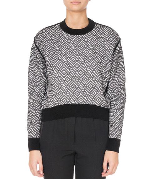 Givenchy Long-Sleeve Allover-Logo Sweater