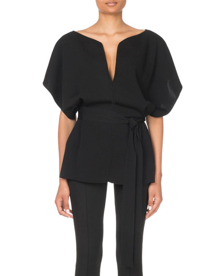 Givenchy Judo-Sleeve Belted Sweater