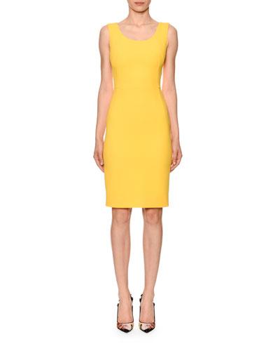 Sleeveless Scoop-Neck Cady Dress