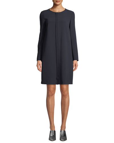 Cirinio Long-Sleeve Shift Dress