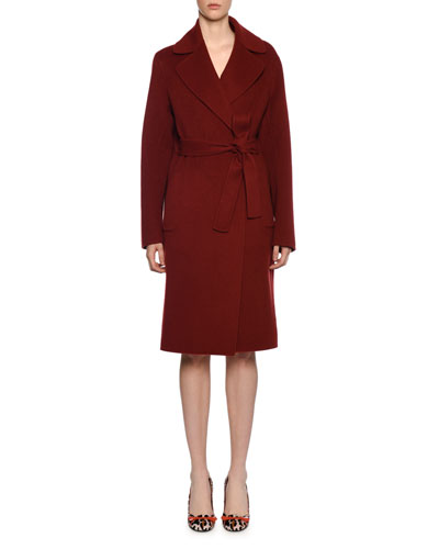 Knee-Length Cashmere Coat