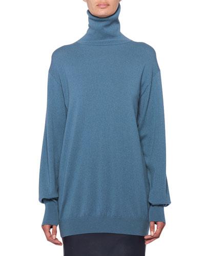 Janillen Cashmere Turtleneck Oversized Sweater