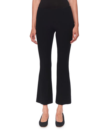 Beca Cropped Wool-Blend Boot-Cut Pants