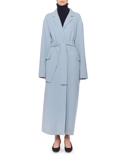 Amoy Cashmere-Wool Trench Coat