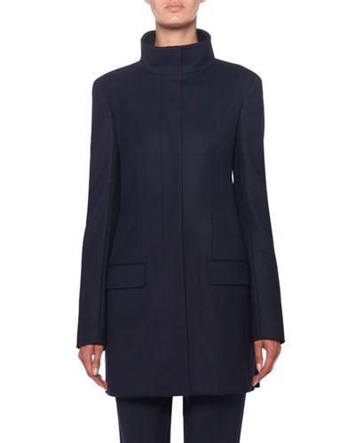 Payton Mock-Neck Wool-Twill Jacket