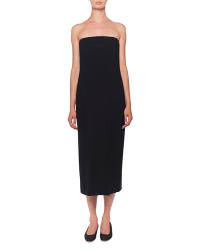 Paola Strapless Midi Dress