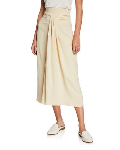 Alina Sash Waist Midi Skirt
