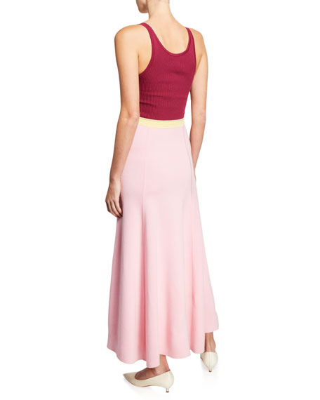 Flaminus Sleeveless Colorblocked Wool-Cashmere Dress