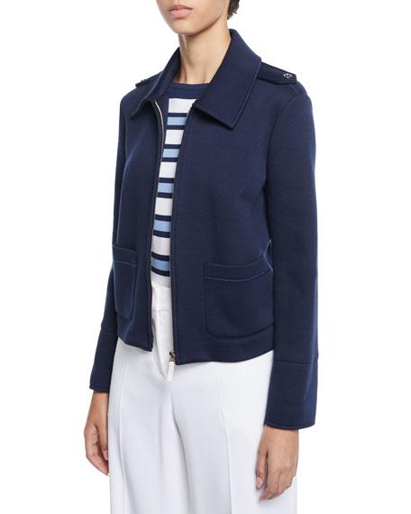 Piazza Sempione Cropped Jersey Epaulet Jacket