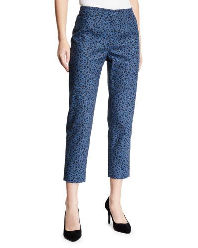 Audrey Floral Side-Zip Pants