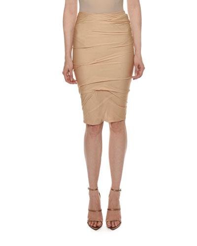Draped Knee-Length Skirt