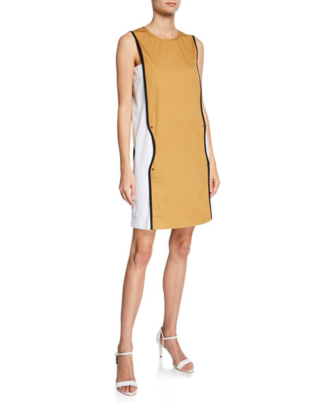 Piazza Sempione SLEEVELESS COLORBLOCKED PIPED DRESS