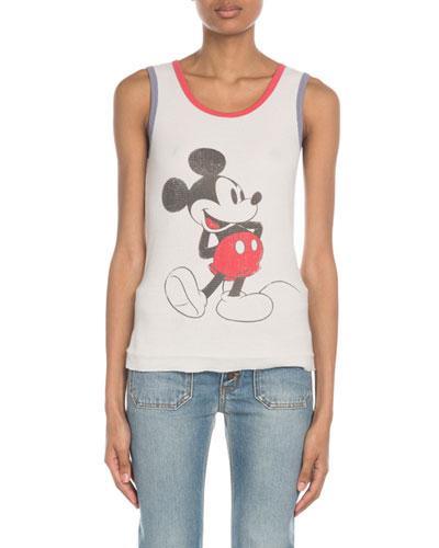 Sleeveless Mickey Knit Tank