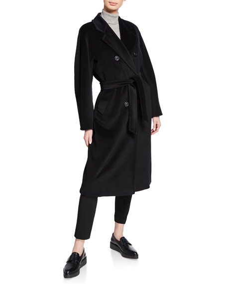 Max Mara Wools WOOL-CASHMERE BELTED MADAME COAT
