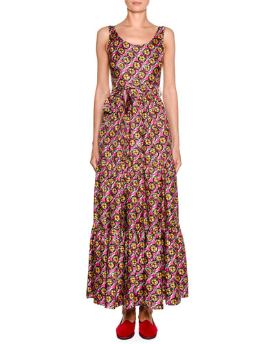 Dinner at the Pellicano Floral-Kaleidoscope Dress