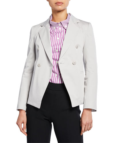 Double-Breasted Stretch-Cotton Jacket