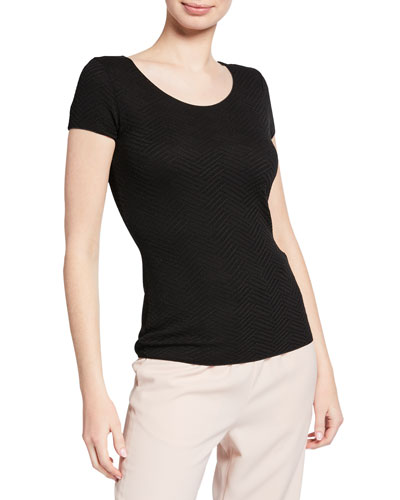 Cap-Sleeve Textured Shell