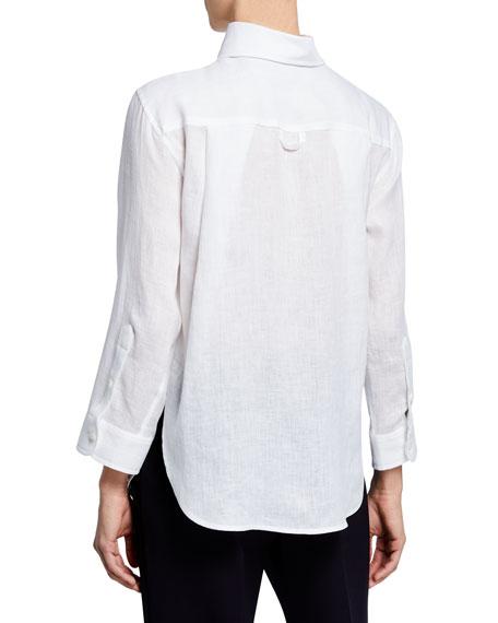 High-Low Linen Front Shirt