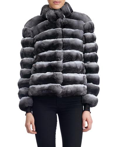 Horizontal Chinchilla Jacket