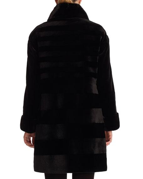GORSKI Furs REVERSIBLE SHEARED MINK STROLLER COAT