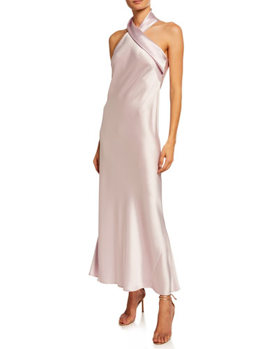 Pandora Heavy Silk Satin Cocktail Dress