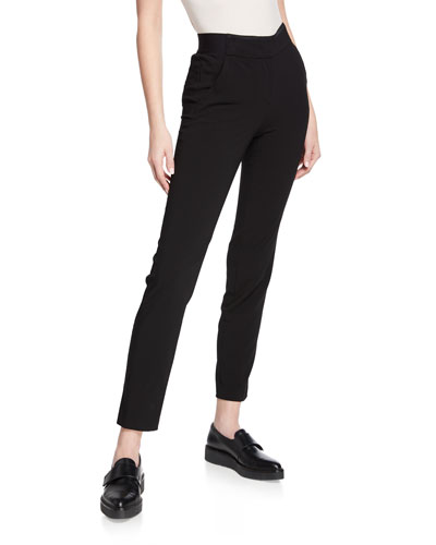Black Magic Straight-Leg Ankle Pants