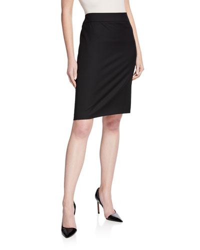 Basic Stretch Wool Skirt