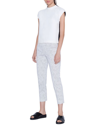 Frankie Memphis Pastina Printed Cropped Mid-Rise Pants