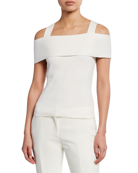 Akris Punto Tops OFF-THE-SHOULDER RIBBED TOP