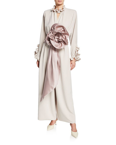 Rosette Crepe Jersey Jumpsuit