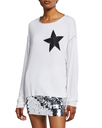 Star-Patch Long-Sleeve Tee
