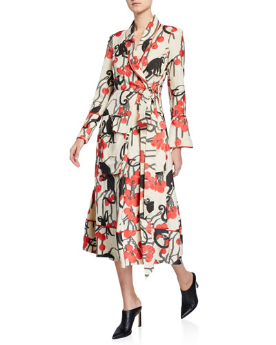Acaste Cherry Jacquard Robe Jacket