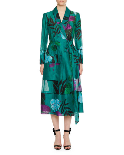 Rodo Organza Cotton-Leaf Robe Jacket