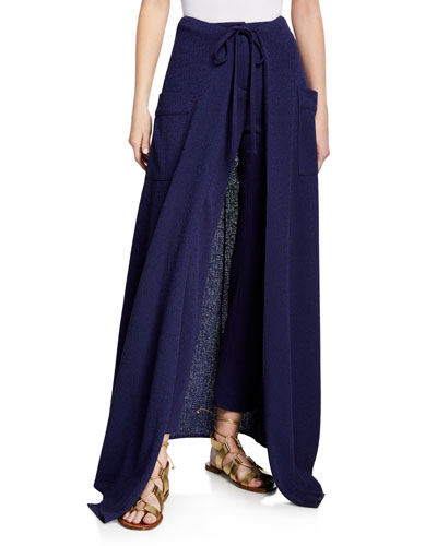Windsor Skirt-Overlaid Pencil Pants