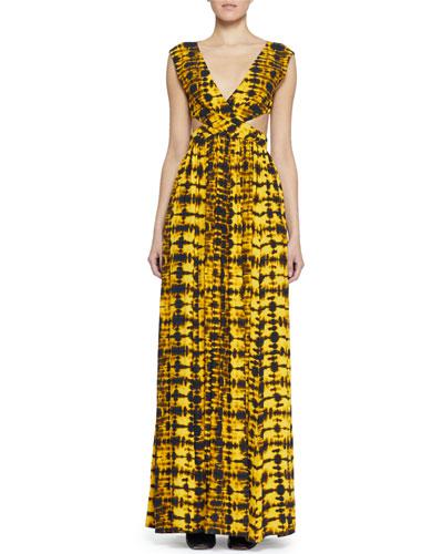 Cutout Tie-Dye Maxi Dress