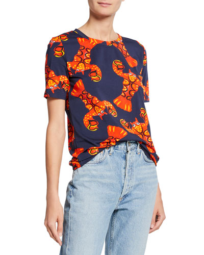 Short-Sleeve Lobster Graphic Tee